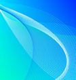 Abstract background with blue and green lines vector image vector image