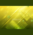 abstract geometric shapes on yellow green vector image vector image