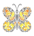 abstract mehndi butterfly vector image