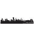 Abu Dhabi UAE skyline Detailed silhouette vector image vector image