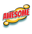 awesome comic word vector image vector image