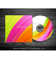 beautiful cd cover design vector image vector image
