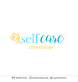 beauty room or salon cosmetologist logo design vector image