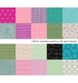 Big collection of abstract seamless patterns vector image