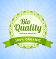 Bio Quality label vector image