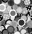 Black and white background with circles vector image