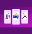 body positive app interface template vector image vector image
