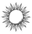 bohemian hand drawn sun vector image