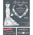 Bridal shower invitation templateBridal dress vector image vector image