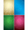 bright music backgrounds with notes - color set vector image vector image