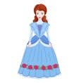 brunette noblewoman in ancient vector image vector image