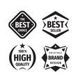 business badges logo set in retro vintage vector image vector image
