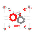 business project and strategy concept business vector image vector image
