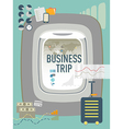 Business Trip Travel concept design vector image vector image