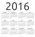 calendar 2016 sunday vector image vector image