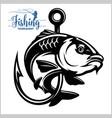 carp fish fishing club sign or emblem fisherman vector image vector image