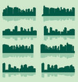 city lanscape set vector image vector image