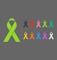 colorful awareness ribbons vector image