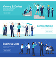 Constructive Business Confrontation Flat Banners vector image vector image