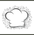 Cooking kitchen and food background vector image