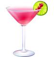 Cosmopolitan cocktail realistic vector image vector image