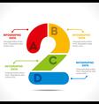 creative alphabet 2 info-graphics design concept v vector image
