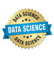 data science round isolated gold badge vector image vector image