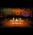 diwali festival sale poster or flyer or vector image vector image