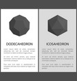 dodecahedron icosahedron set vector image vector image