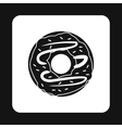 Donut icon simple style vector image vector image