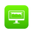 drawing monitor icon digital green vector image vector image