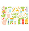 ecology reusables zero waste recycle and vector image vector image
