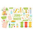 ecology reusables zero waste recycle vector image