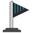 flagpole icon isolated on white background vector image