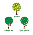 Fruit trees apple and pear vector image