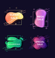 geometric colorful abstract banner vector image vector image