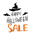 halloween sale banner with lettering vector image vector image