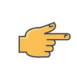 hand pointer gesture concept line icon vector image
