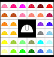 hardhat sign felt-pen 33 colorful icons vector image vector image