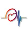 heartbeat cardiogram icon vector image vector image