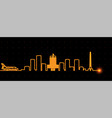 houston light streak skyline vector image vector image
