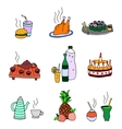 icons food and drinks vector image vector image