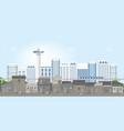 landscape of slum city or old town slum on urban vector image vector image