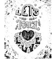 lets fall in love vector image