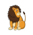 lion cartoon drawing vector image