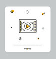 media player icon on white vector image vector image