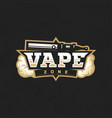 modern professional logo emblem vape zone vector image vector image