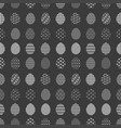monochrome black and white pattern with easter egg vector image