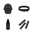 nemes a collar and other web icon in black style vector image vector image