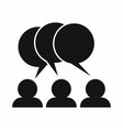 People with dialog speech bubbles icon vector image vector image